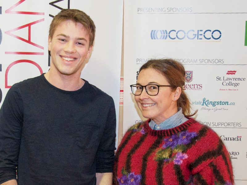Star of Closet Monster actor Connor Jessup with Jess Allen digital correspondent of CTV's The Social