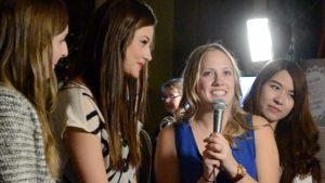 4 young women are being interviewed about their film
