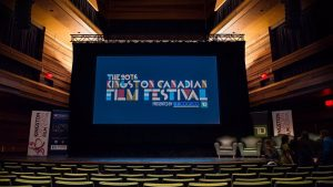 Kingston Canadian Film Festival 2016 projected on a large screen at the Isabel Bader Centre for the Performing Arts